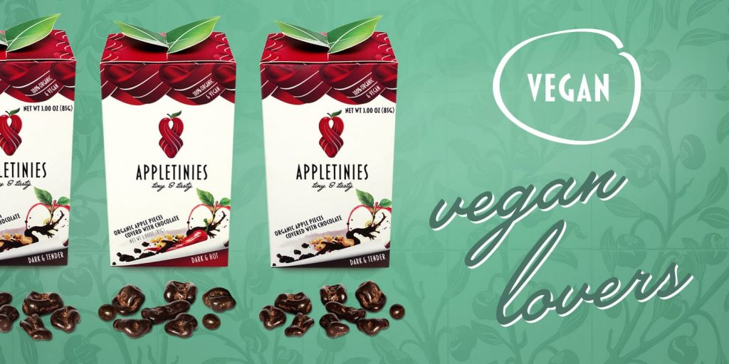 Appletinies-set: vegan lovers - vegan chocolate, sweets,snack
