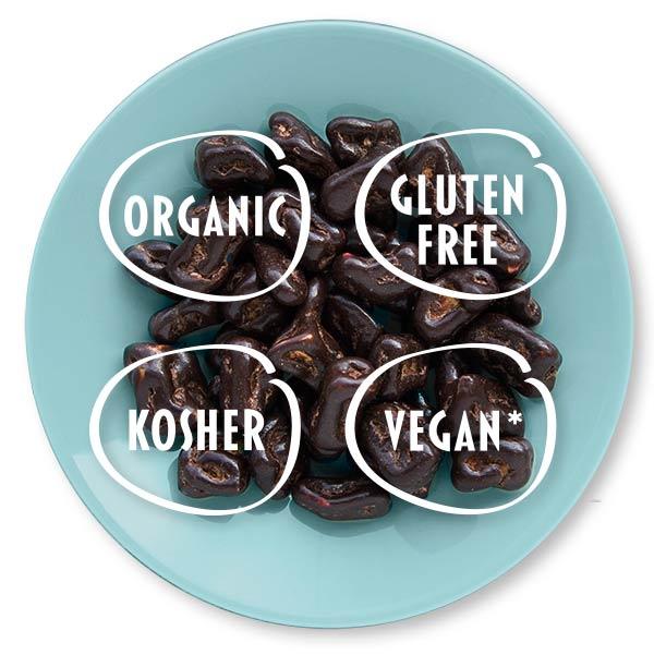 vegan, organic, glutenfree, kosher